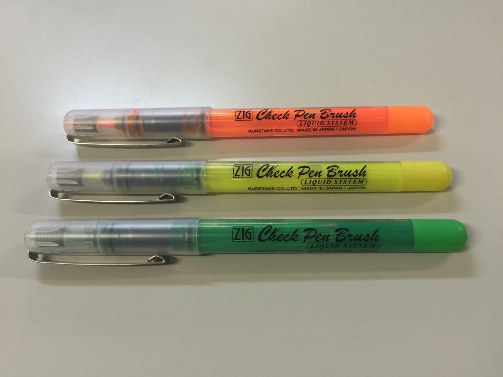 蛍光筆ペン 3色